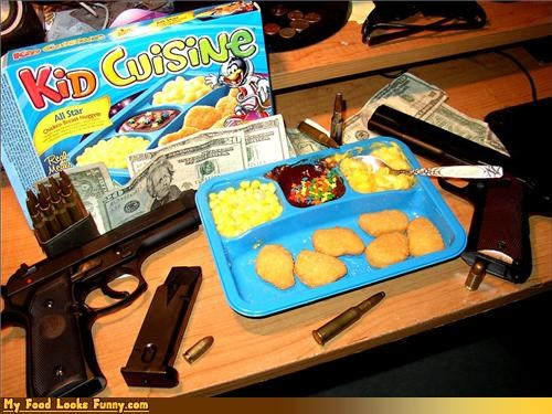 ammo,baller,cash,guns,kids meal