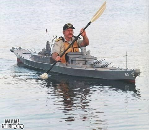 battleship,kayak,water sports