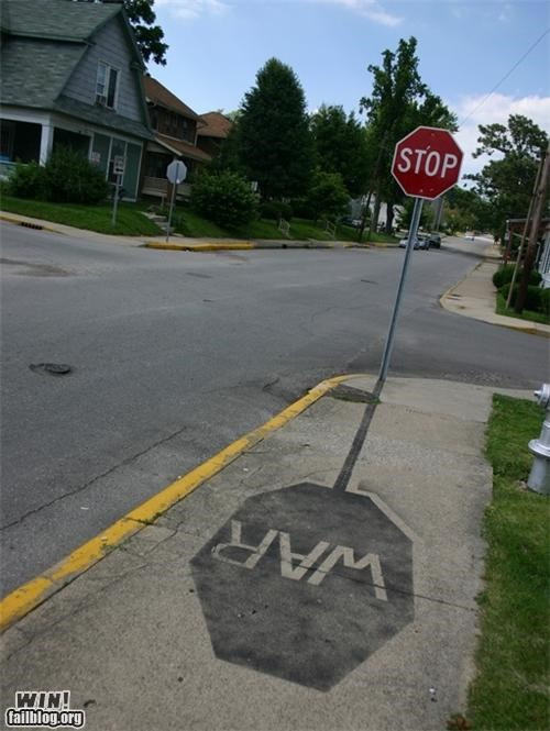 hacked politics shadow stop sign street signs