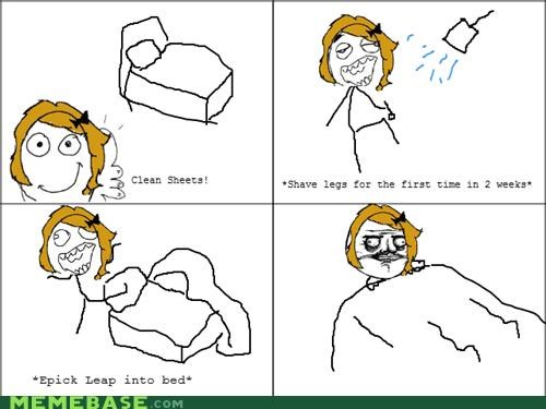 Rage Comics,shaving,sheets