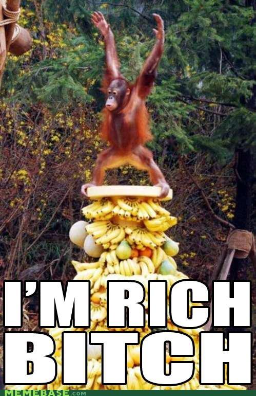 bananas Memes monkey rich - 4627870976