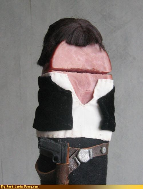 ham Han Solo meat star wars wig