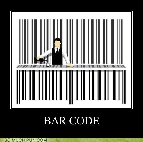 bar barcode code double meaning literalism - 4627988992