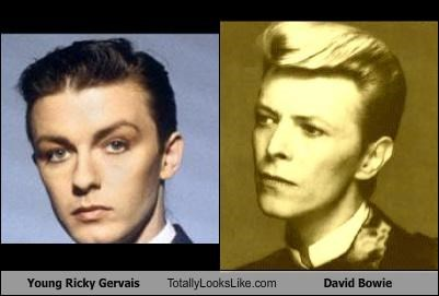 actors comedians david bowie musicians ricky gervais young