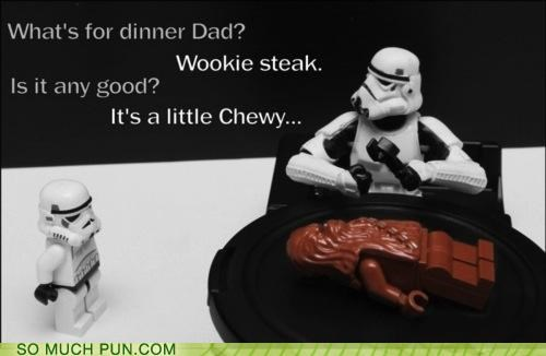 chewbacca,chewy,dinner,Hall of Fame,homophone,legos,nickname,star wars,steak,stormtrooper