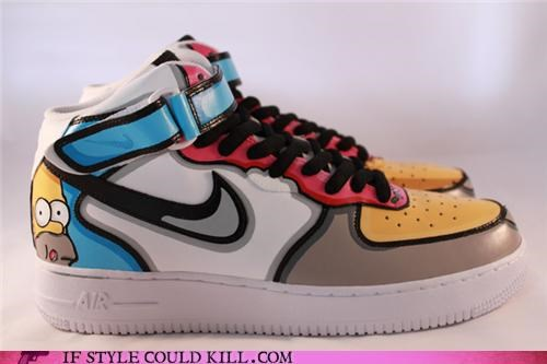 crazy shoes,nike,sneakers,the simpsons