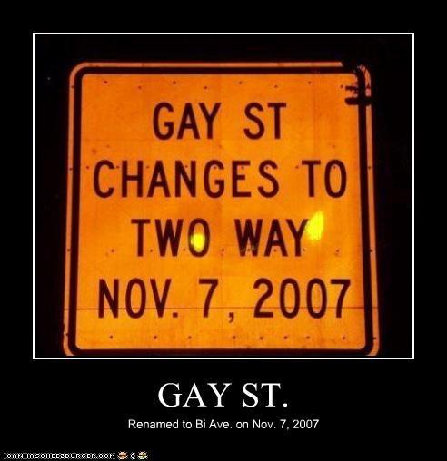 GAY ST. Renamed to Bi Ave. on Nov. 7, 2007