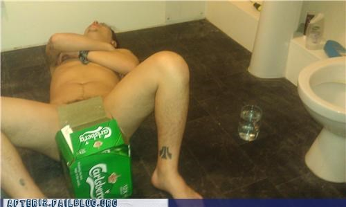 au natural,carlsberg,drunk,passed out