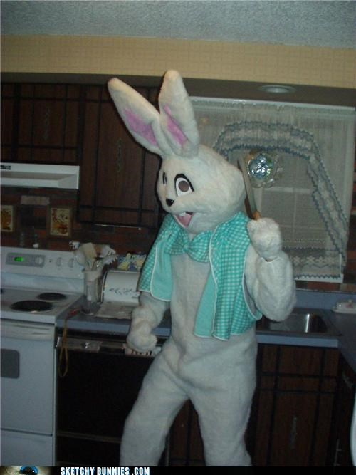 accessories bunnies with knives costume creepy weapons - 4629811456