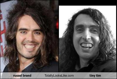 comedians,Russel Brand,singers,tiny tim