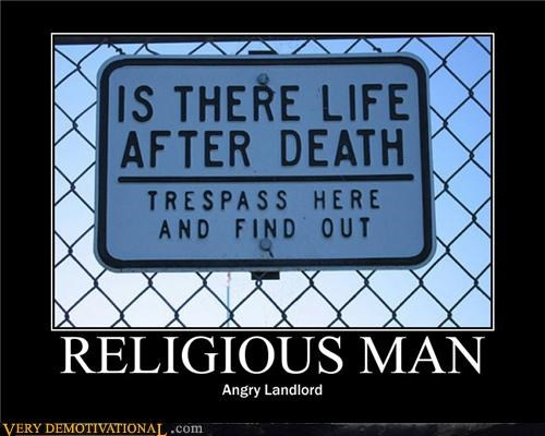 afterlife angry landlord religious sign