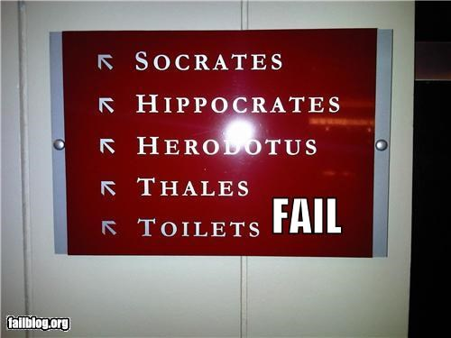 bathrooms,failboat,g rated,oops,philosophers,signs,toilets