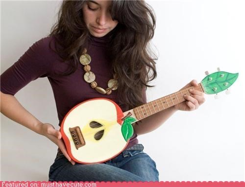 apple fruit instrument Painted ukulele - 4630587392