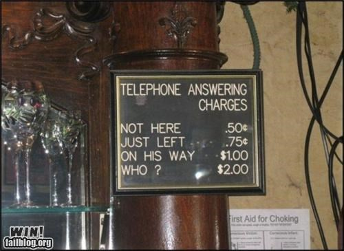 awesome at work classic phone signs telephone - 4630919168