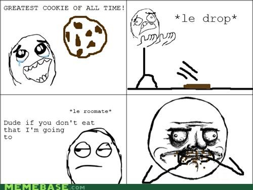 cookies,drop,me gusta,rage,Rage Comics