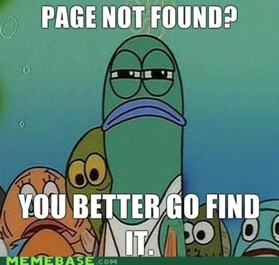 Memes,not found,page,SpongeBob SquarePants