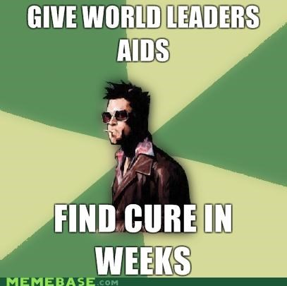 aids cure Disruptive Durden fight club tyler durden world - 4631373056