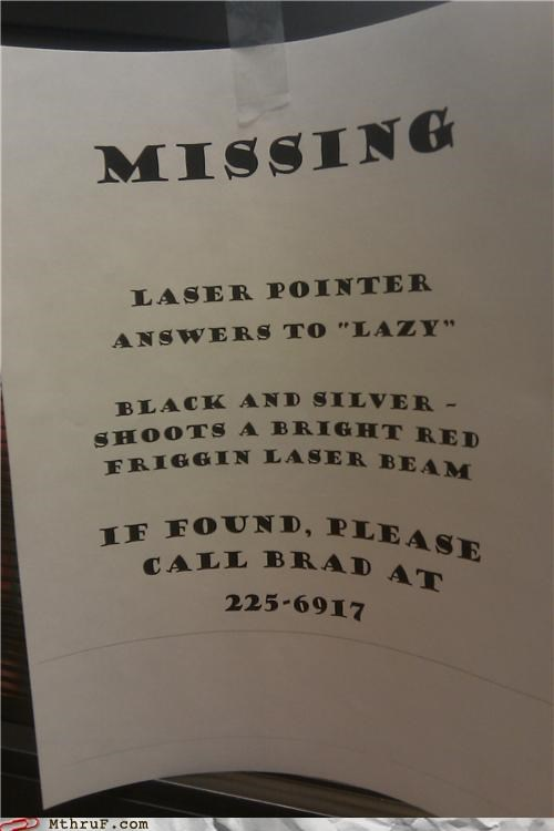 laser lazy missing pointer