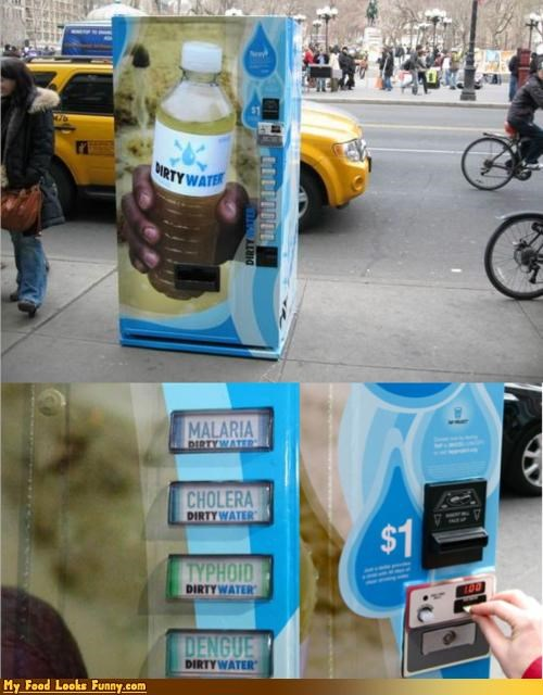 cause charity dirty vending machine water - 4631520512