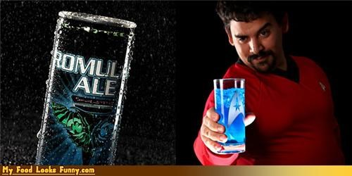 blue energy drink romulan ale Star Trek strekkies - 4631835904