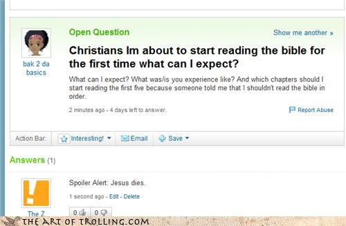bible chapters jesus religion sequel Yahoo Answer Fails - 4632032768