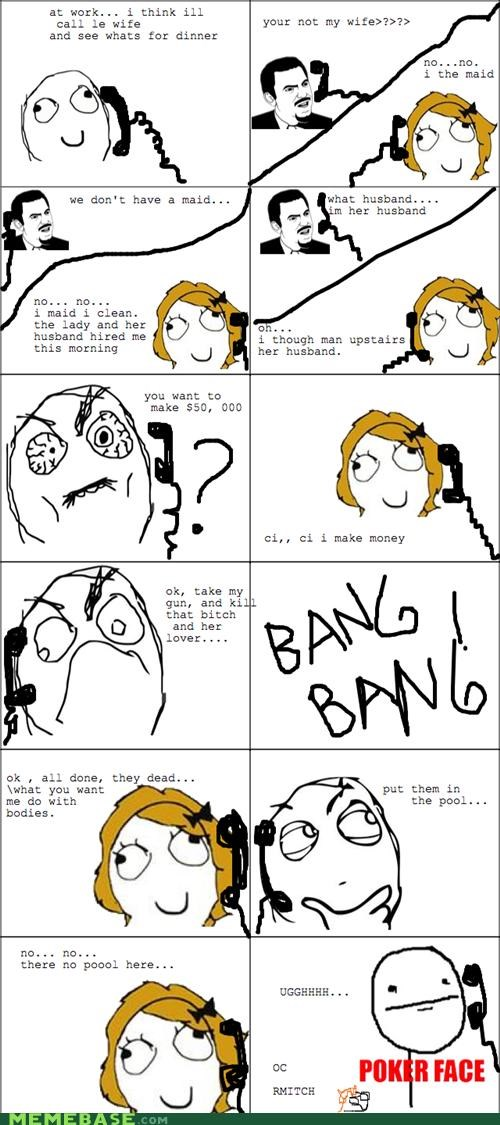 cheating cleaning maid Rage Comics wife - 4632257024
