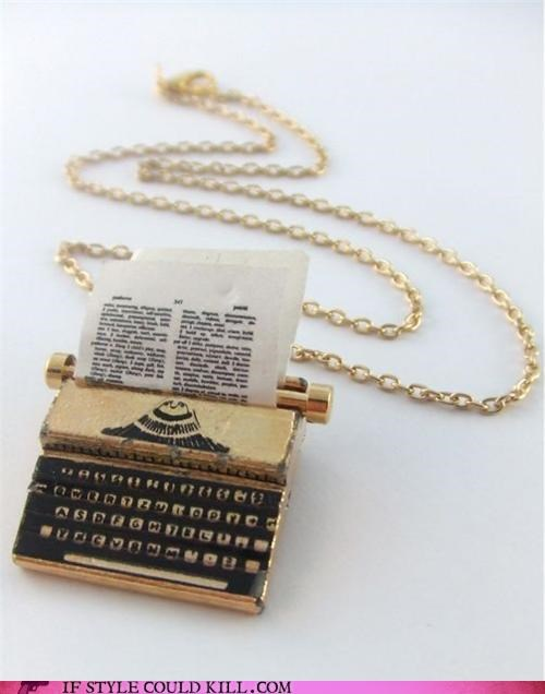 cool accessories necklace penny masquerade typewriter - 4632806912