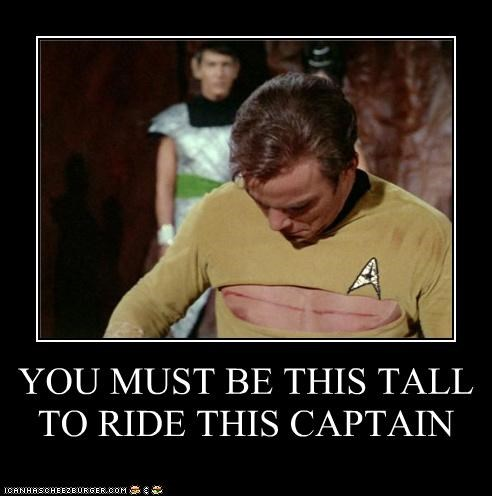 YOU MUST BE THIS TALL TO RIDE THIS CAPTAIN