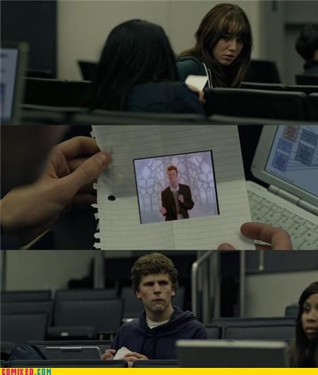 Movie Rick Rolled social network