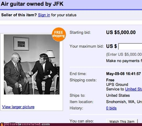 air guitar,ebay,jfk