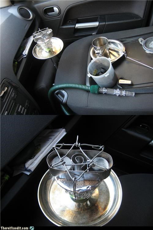 cars driving hookah smoking wire