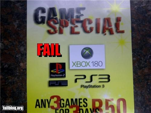 Xbox Fail (Xbox Halfpipe?) Someone clearly doesn't game!