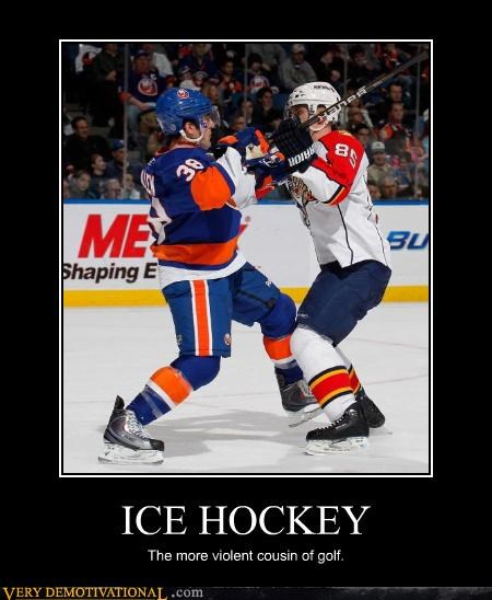 golf ice hockey violent - 4633975808