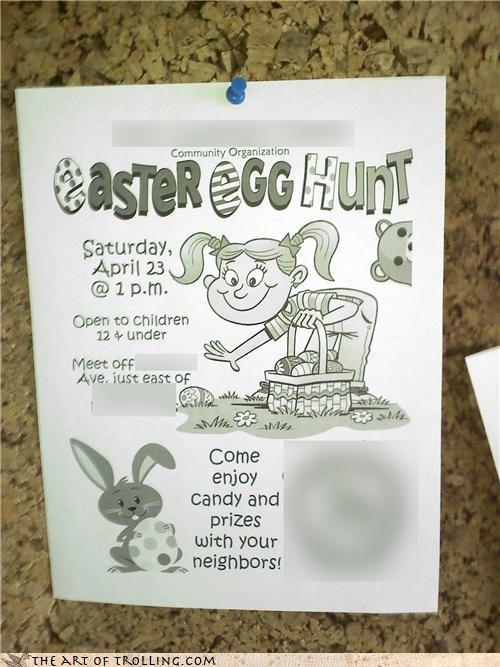 children easter eggs hunt IRL pedobear - 4634100736