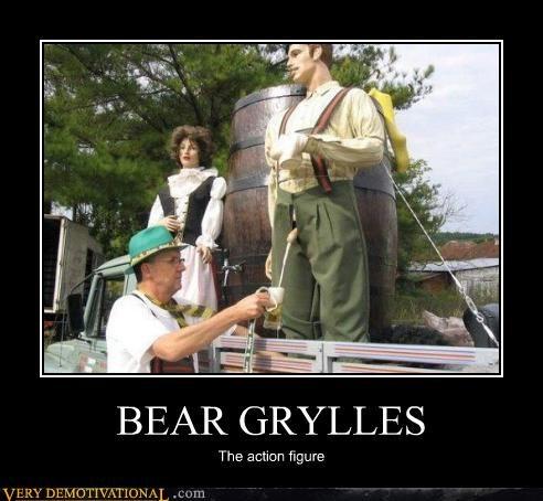 action figure bear grylls beer pee - 4634226944