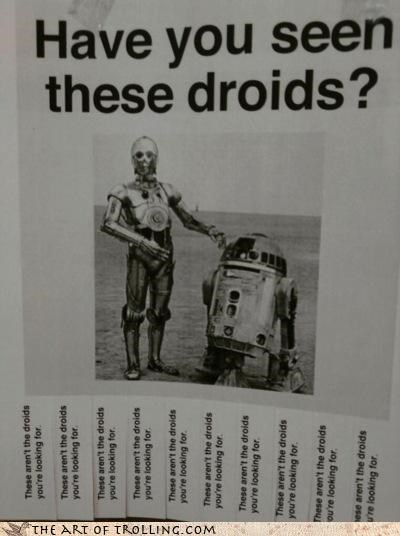 droids,IRL,Lost Sign,star wars,the force