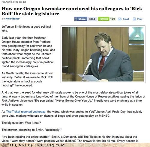 Congress,IRL,legislator,oregon,rickroll