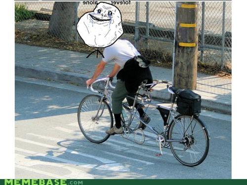 bike forever alone tandem - 4634672384