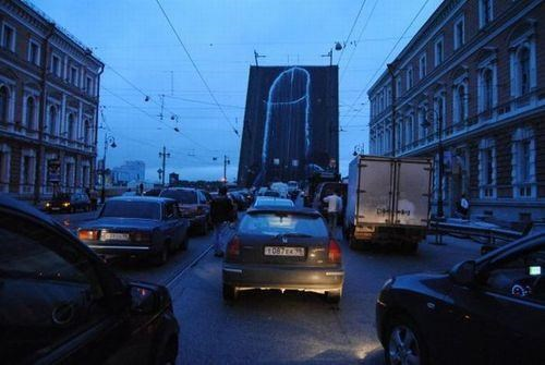 in russia,Innovative Vandalism,Meanwhile,Street Art,Voina