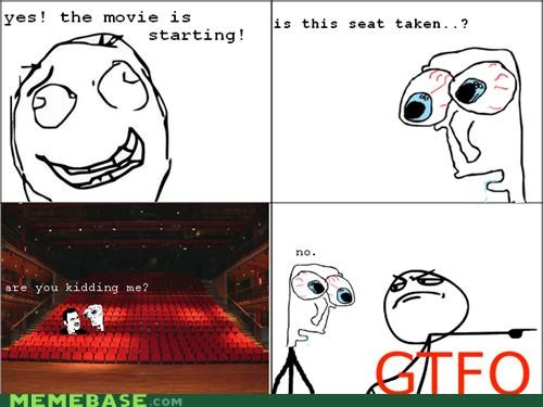 are you kidding me movies Rage Comics seats theater - 4634909184