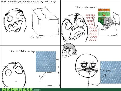 bubble wrap,gift,pop,Rage Comics