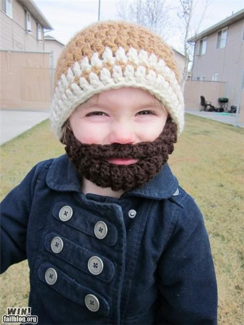 awesome product baby beard cute hat