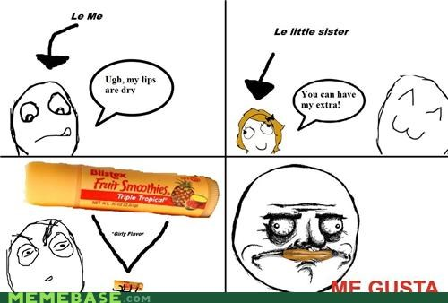 chapstick fruit smoothies me gusta pretty Rage Comics sister - 4635114752
