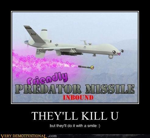 drone missle Predator smile - 4635116544