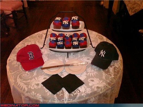 baseball,funny wedding photos,wedding cupcakes