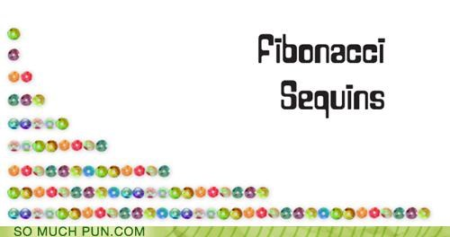 accessory Bling fashion fibonacci literalism math mathematics sequence Sequins similar sounding puns - 4635611392