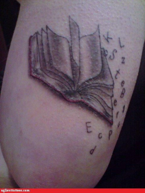 wtf letters tattoos books funny - 4635653376