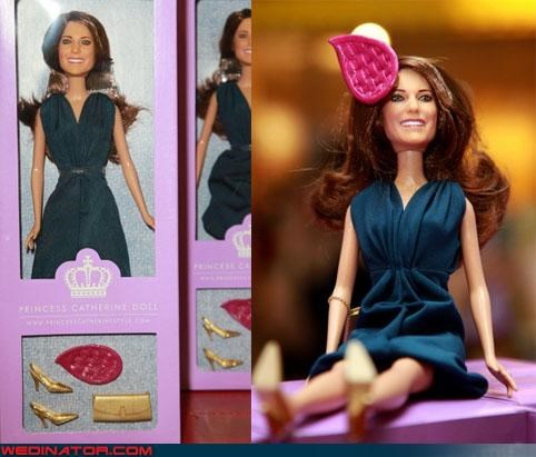 doll,funny wedding photos,kate middleton,prince william,royal wedding,Royal Wedding Madness