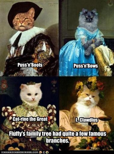 animals,art,cat,funny,historic lols,painting