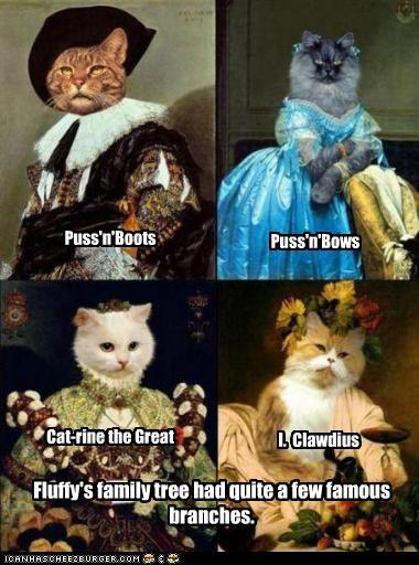 animals art cat funny historic lols painting - 4636021248
